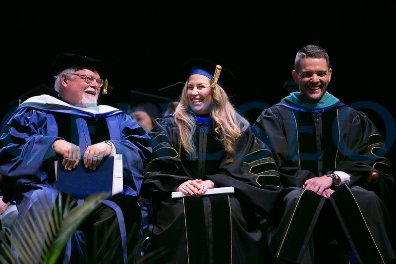 Left to right: John Hugh Churchill, Molly Smith Metzler '00, and Clint Sugnet '09