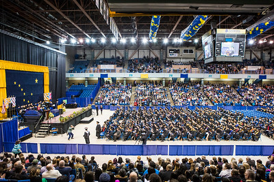 Nearly 600 students crossed the stage to receive a certificate or degree during UAF's 96th commencement ceremony Saturday, May 5, 2018, at the Carlson Center.