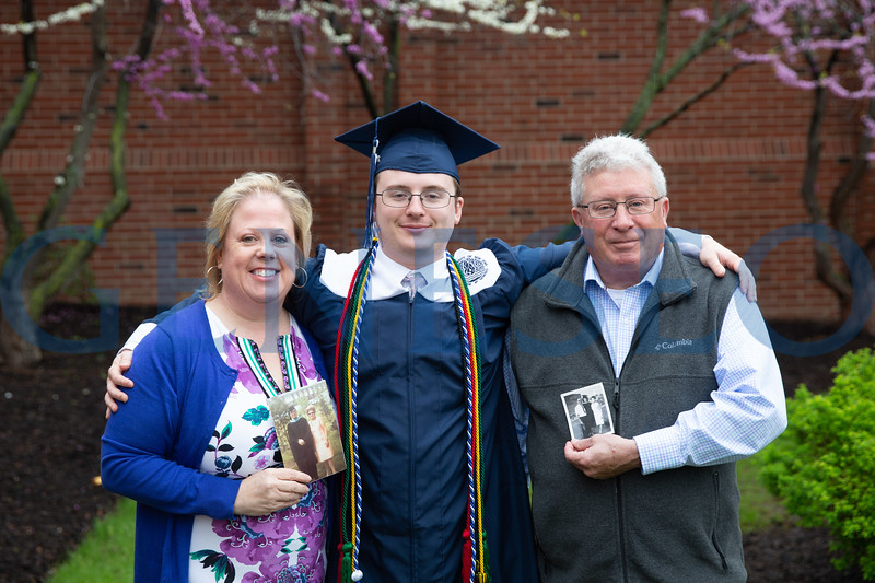Terry Lemen (mother) with her son, Charlie Lemen '18, and father Tim Lemen