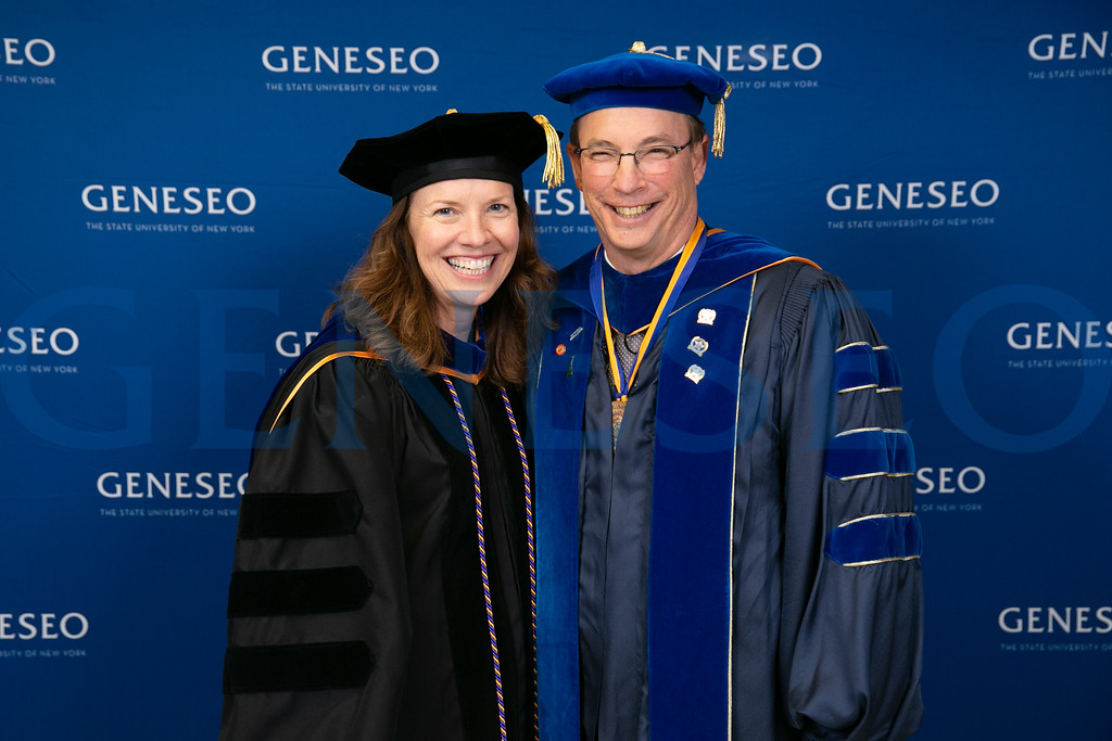 Provost Stacey Robertson and Kenneth Ken Kallio