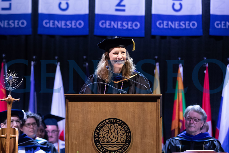 Honorary degree recipient Gerald Robert Rhodes '74, presented by Stacey M. Robertson, Provost, and Chair Wayland-Smith
