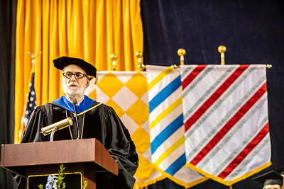 University of Alaska Regent John Davies confers the degrees during the UA Fairbanks commencement ceremony Saturday, May 4, 2019, in the Carlson Center.