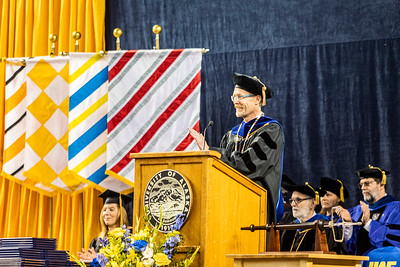 University of Alaska Fairbanks Chancellor Daniel M. White congratulates the more than 600 graduates who attended UAF's 97th commencement ceremony at the Carlson Center Saturday, May 4, 2019.