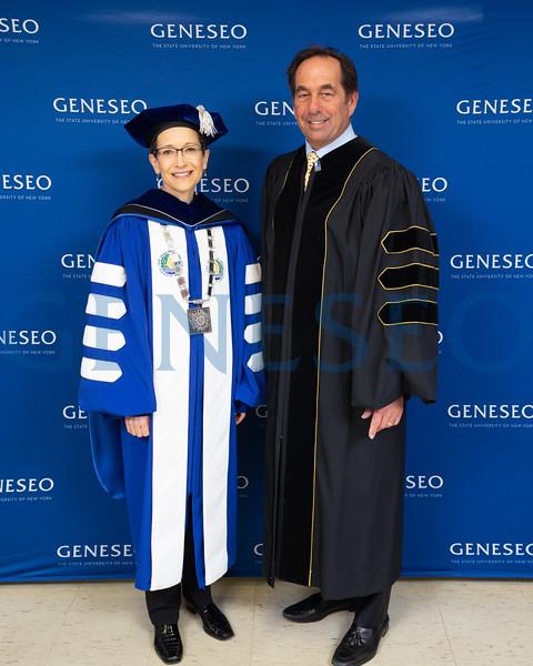 President Denise A. Battles and Joseph Carr