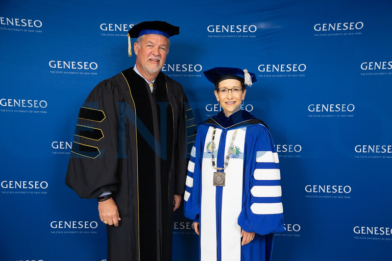 President Denise A. Battles and Mark J. Ashley '77