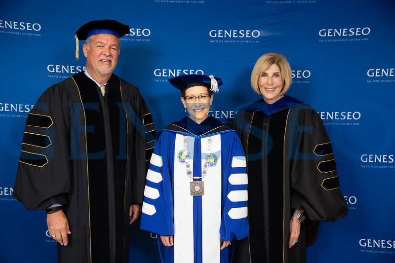 President Denise A. Battles, Jeri Muoio '69 and Mark J. Ashley '77