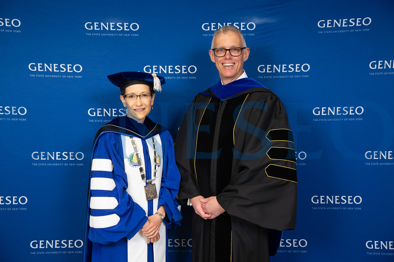President Denise A. Battles and John Gleason