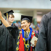 "Bunky Keyes is all smiles as she processes with students at thebeginning of the 2014 Commencement Ceremony Sunday, May 11, 2014, at the Carlson Center.  <div class=""ss-paypal-button"">Filename: GRA-14-4187-87.jpg</div><div class=""ss-paypal-button-end""></div>"