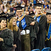 "Max Olex, exchange student from Germany, sports his lederhosen during the 2014 Commencement ceremony.  <div class=""ss-paypal-button"">Filename: GRA-14-4187-114.jpg</div><div class=""ss-paypal-button-end""></div>"