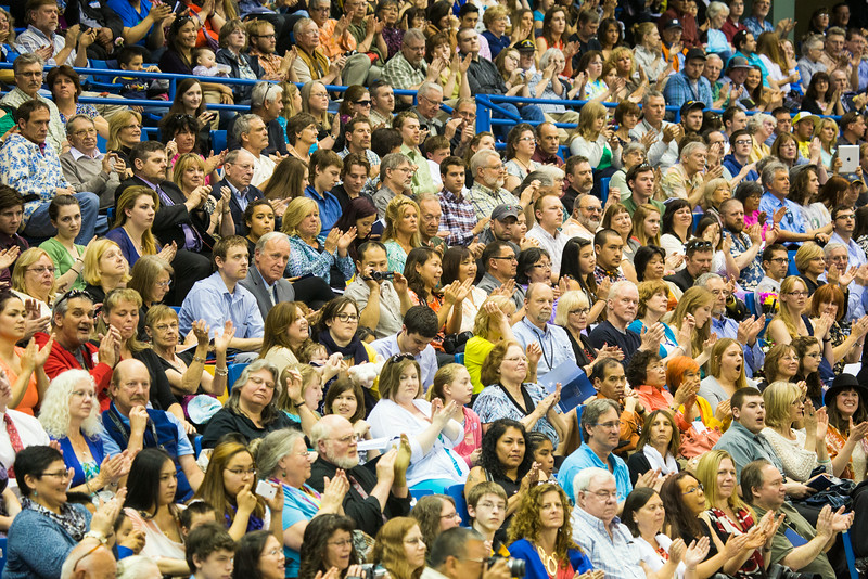 "Family, friends, mentors, pack the Carlson Center supporiting the recent graduates' achievements during the 2014 Commencement Ceremony.  <div class=""ss-paypal-button"">Filename: GRA-14-4187-152.jpg</div><div class=""ss-paypal-button-end""></div>"