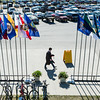 "A graduate walks toward the entrance of the Carlson Center before the 2014 University of Alaska Fairbanks Commencement Ceremony Sunday, May 11, 2014.  <div class=""ss-paypal-button"">Filename: GRA-14-4187-7.jpg</div><div class=""ss-paypal-button-end""></div>"