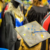 "A graduate displays a personal message on her cap during UAF's commencement ceremony May 11 in the Carlson Center.  <div class=""ss-paypal-button"">Filename: GRA-14-4186-0707.jpg</div><div class=""ss-paypal-button-end"" style=""""></div>"