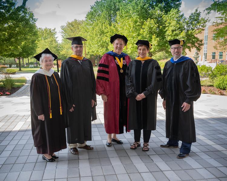 Sr. Kathleen Sullivan, Steven Sabatini, Sr. Mary Eileen O'Brien, Kathrin U. Jansen and Thomas Nowak