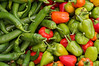 "Organic pepper assortment at farmer's market.  (To purchase prints or downloads, click on the ""Buy"" or shopping cart button above the image.)"