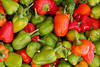 """Organic pepper assortment at farmer's market.  (To purchase prints or downloads, click on the """"Buy"""" or shopping cart button above the image.)"""