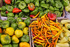 "Organic chili pepper assortment at farmer's market.  (To purchase prints or downloads, click on the ""Buy"" or shopping cart button above the image.)"