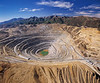 Aerial view of Kennecott Bingham Canyon Mine, an open pit copper mine in Utah