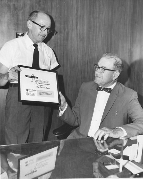 Citizens Bank Award, unidentified, left and M. E. Perry, right