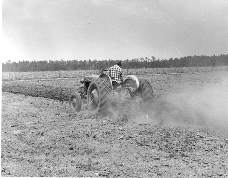 Unidentified farmer plowing his fields.