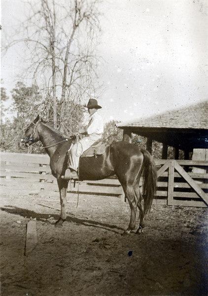 Saddled up on the John Paulk farm about 1920