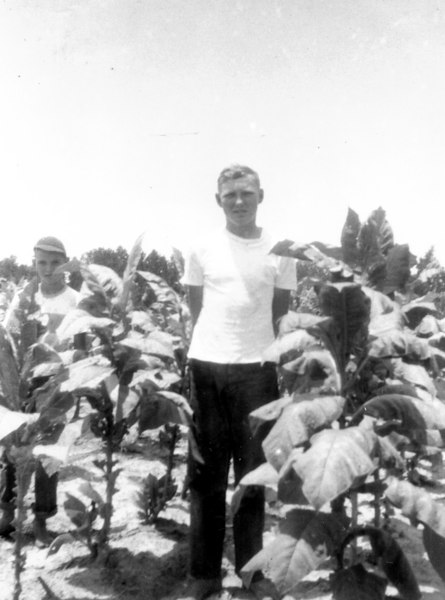 Kenneth May Sr _ great grandson John A Gaskins_circa 1952