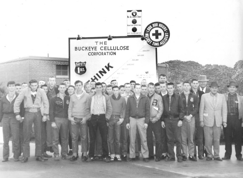 Vocational Agricultural Class of Berrien High tour of  Buckeye Cellulose Clyattville, Georgia, about 1960.