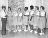 Dr. Frank Carter with Hospital Pink Ladies, September 1970