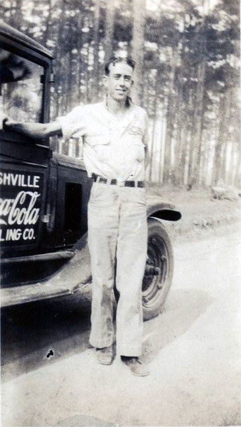 Nashville Coca Cola Bottling employee, Fred Taylor, late 1920s to early 1930s. (Courtesy of Jack Bennett)