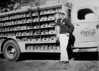 Lacy Polk with son, Bobby Polk, with Coca-Cola delivery truck, circa 1949. (Photo courtesy of Bobby Polk)