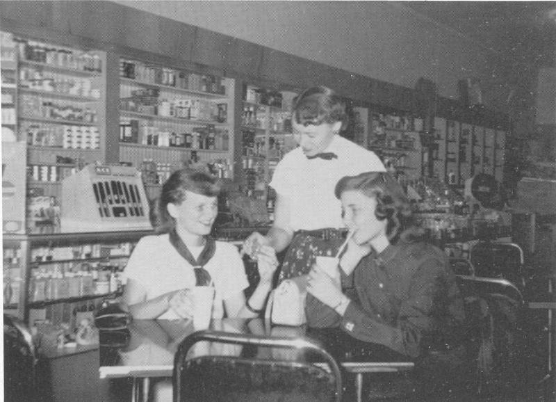 1955 Berrien Drug Store (from BHS yearbook)