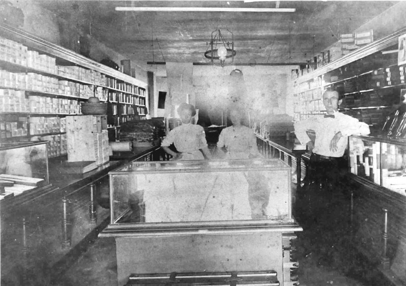 Rigell Mercantile, Milltown, Georgia<br /> Left to right: Fannie Rigell, Julia Rigell, Dave Rigell