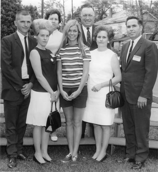 Front row left to right: Lamar Gray, Mary Gray, unidentified, unidentified, unidentified.<br /> Back row: Unidentified, unidentified