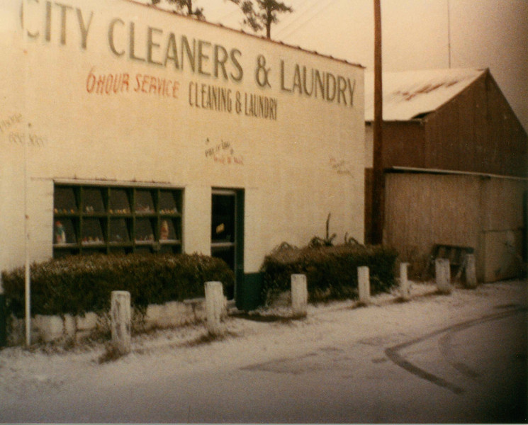 City Cleaners, December 1989 after Snow