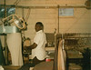 City Cleaners, Davis Street, employee L.R. Prince working at the cleaners in the late 1960s. (Courtesy of Skeeter Parker)