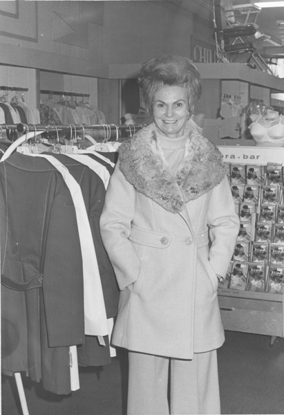 B.C. Moore's Department Store, Lunette Clifton, winter preview, June 1975