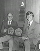 Martin Motors Pentastar Club Award<br /> <br /> The Berrien Press, page 8, June 5, 1975<br /> photo caption:<br /> Jack Martin, left, and Byrn Owen, Chrysler, Plymouth, Dodge factory representative from the Orlando, Fla. district.