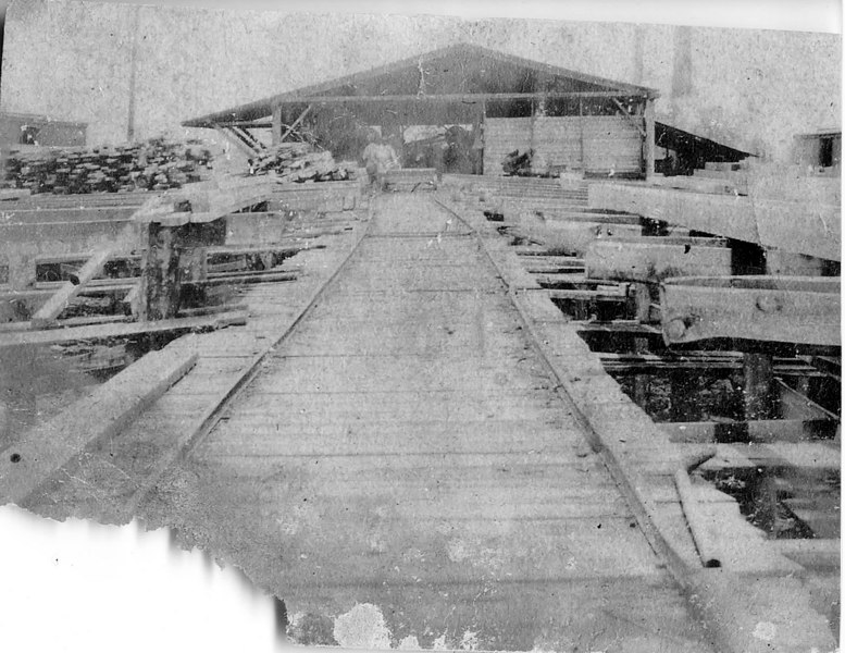 Berrien Lumber Company. Picture shows sorting ramp coming from the planer.