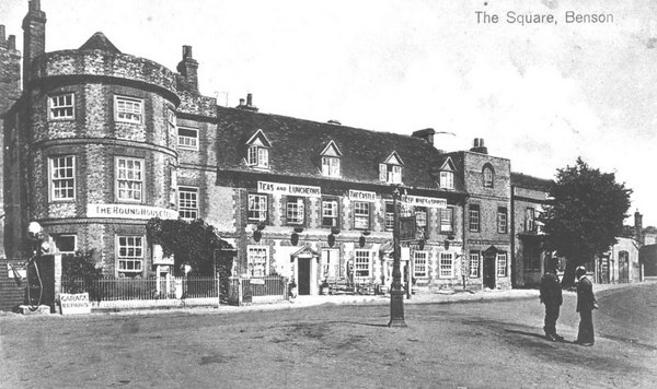 <center><font size=3><u> - Castle Inn - </u></font> (BS0327) </center>  View of Inn from White Hart.