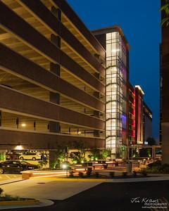 Fairfax Corner Parking Structure - Night
