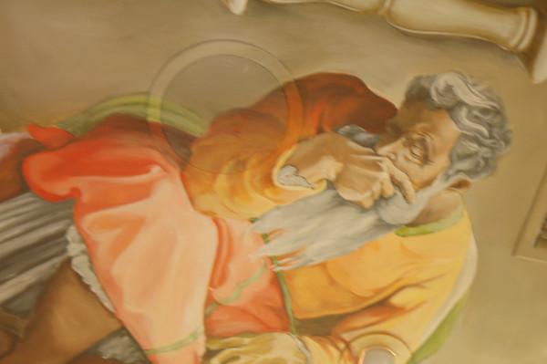 detail from Sistene Chapel ceiling mural