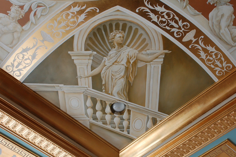 16th century french design over goldleaf