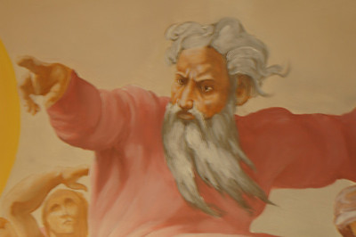 detail from Sistene Chapel ceiling mural