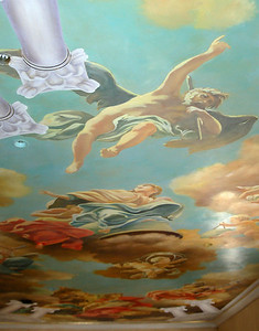 detail from venetian fresco ceiling mural