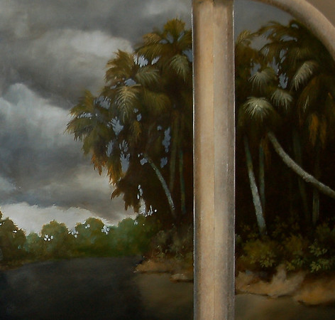 detail of mural 'storm over St Johns River'