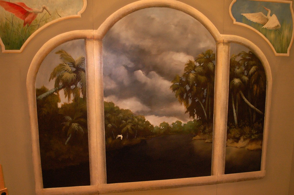 mural painted for expo show 'St Johns River storm'