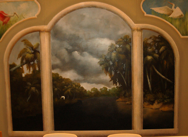 florida landscape mural 'storm over St Johns River'