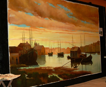 'Dutch period landscape' mural