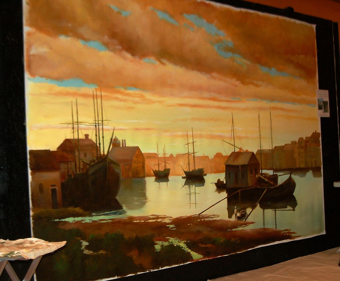 'Dutch period landscape' mural