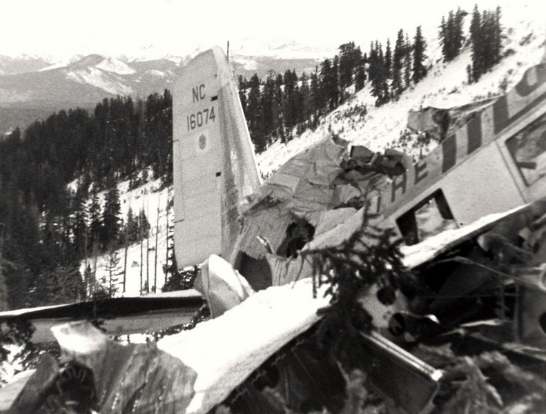 The plane flew straight into the east slope of Humpy Ridge at cruise speed. With a fatal combination of darkness and bad weather, it's likely that neither pilot seen the approaching terrain.