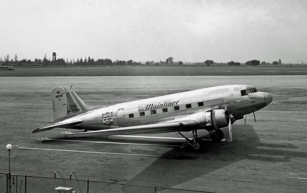 THE AIRCRAFT:<br /> <br /> The airplane, a Douglas DC-3A (NC16074), was owned and operated by the United Air Lines Transport Corporation of Chicago, Illinois. It was inspected and approved for license by the Department of Commerce on December 8, 1936.<br /> <br /> Ship #74 operating as Trip One, departed Cheyenne at 6:26 PM (25 minutes late due to passenger delays). At the time of departure from Cheyenne, there was 622 gallons of fuel on board and 200 quarts of oil, an amount sufficient for approximately seven hours of flight at normal cruising speed.